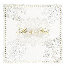 Servietten Mr. und Mrs.16 Stk gold Papierservietten Lunchservietten Hochzeit