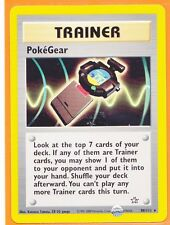 Unlimited Pokemon 1 x POKEGEAR  # 88/111 Rare card Neo Genesis Never Played