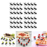 48 Pieces Worker Ant Party Picks Fruit Fork Snack Cake Dessert Forks 4.5x4x5cm