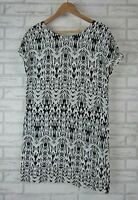 ISOLA BY MEGAN GALE Dress Sz S, 10  Black and White Print