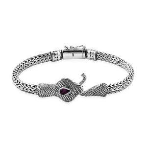 BALI DESIGNER SNAKE Chain Bracelet in Solid 925 Sterling Silver - 30 Grams #P27