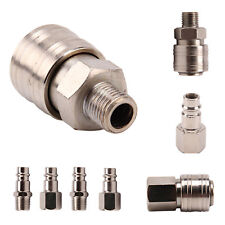"10 Pc/Set Male/Female Release Air Line Hose Couplings Fitting 1/4"" Bsp Connector"