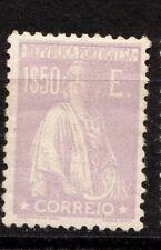 Portugal Stamp 298M Afi 290 1.5 E Pale Lilac Glzd Paper MHR F/VF 1924 SCV $30.00