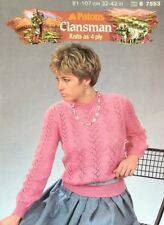 """Patons  4ply Knitting Pattern Ladies  Sweater Jumper  Size 32/42"""""""