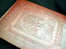 Molto grande wicca pagano in pelle fatto a mano albero della vita Altare LIBRO BOOK-Of-Ombre
