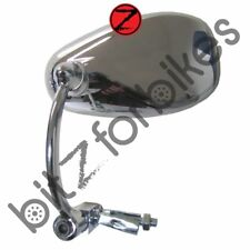 Mirror Chrome Bar End Rectangle Left or Right Hand One Only