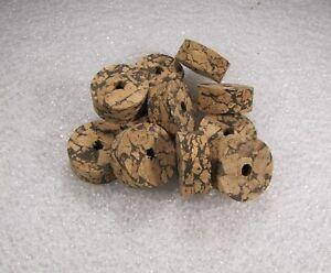 "Cork ring, Light mix burl 1/2"" x 1.25 x 1/4 (4)pcs"