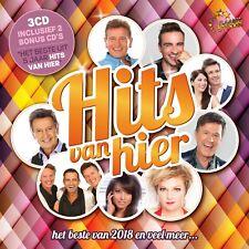 CD * HITS VAN HIER 2018 + BESTE UIT 5 JAAR HITS VAN HIER (3CD * NEW & SEALED !!)