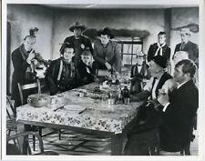 Stagecoach National Film Archive London print John Wayne & cast around table