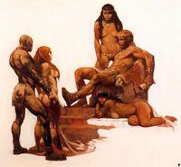 "Authentic Frank Frazetta Print ""ROUGE ROMAN""  20 X 16 #80"