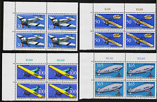 1991 germany Set Sc#1638-1641 Mi#1522-5 Corner Margin Block of 4 MNH