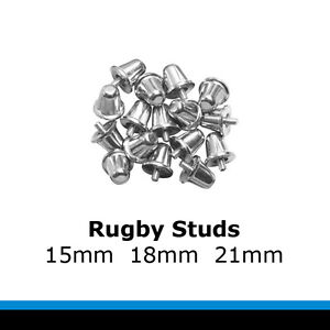 Rugby Football Studs 15mm, 18mm, 21mm set of 12