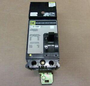 "New Square D I-Line FA FA26020AC 2 Pole 20 Amp 600V Circuit Breaker Grey """"AK"""""