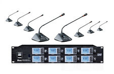 8 channel Wireless Gooseneck Conference Microphone for Speaking