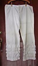 Vtg Antique Ruffle Petticoat Tap Panty Victorian Civil War Reenactment Lingerie