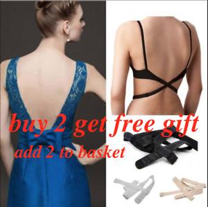 Low Back Bra Strap Extension Converter Adjustable Backless Summer Dress V2Z0