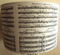 Music Score lamp shade,lampshade script shabby chic black cream Free Gift