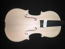 1 PC NIce Wood Grains White Violin 4/4 Unfinished Ebony fingerboard Spruce Top