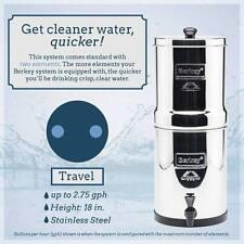 New Travel Berkey Water Purification System w/ 2 Black Berkey Elements