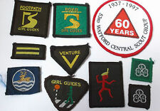lot of 10  patches     girl guides / boy scout