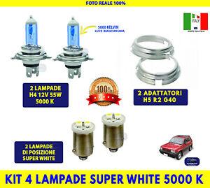 Lampadine H4 Fiat Panda Hobby Auto Luci 55W 12V adattatore H5 kit posizione per