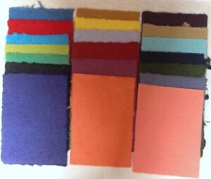 20< A4 sheets RANDOM COLOURS mulberry papers THICK TEXTURED handmade paper CRAFT