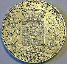 ===>>> Belgique Léopold II Roi 5 Francs en argent 1873  !!! TTB- SUP !!! <<<===