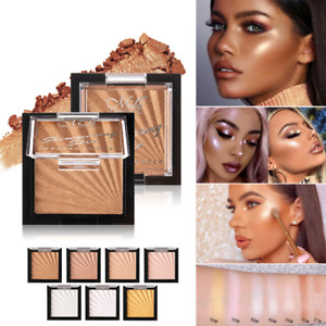 Beauty Highlighter Palette Make Up Blusher Face Contour Powder Bronzer Makeup~US