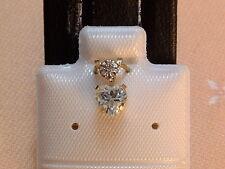 Feines Blautopas Herz - 5 x 5 mm - mit Diamant Krone - 10 Kt. Gold - 417 - EDEL
