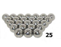 "25 Balls 1-1/16""  High Polish Mirror Finish Chrome Steel OEM Pinballs New!"