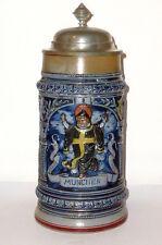 Chope De Bière Ancienne Munich Kindel Kindl Krug HB à Beerstein 1 Litre