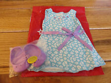AMERICAN GIRL MYAG TEAL PRINT DRESS NEW  IN PACKAGE STORE EXCLUSIVE RETIRED