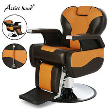 Bi-colour All Purpose Hydraulic Barber Chair Reclining Salon Styling Equipment