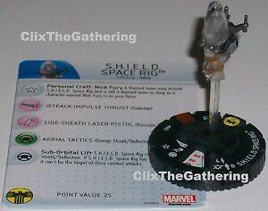 Scudo Spazio Attrezzatura #063 Nick Fury Agente Di S.H.I.E.L.D Heroclix