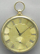 A 52mm TOBIAS  POCKET WATCH WITH A VERY BEAUTIFULLY ENGRAVED CASE - CIRCA 1820!