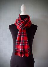Red tartan scarf, traditional Royal Stewart tartan scarf, red plaid scarf