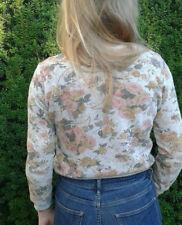 Crop Pullover ZARA TRF 36 S M Frühling Sweater Rosen vintage top Boho Trend cos