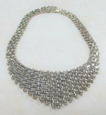 """Large Mexico Sterling Silver Necklace ~ 17"""" ~ 181.4grams ~ 2-B2512"""
