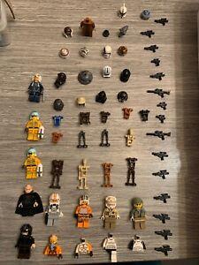 LEGO Lot de Mini Figurines personnages Star Wars avec accessoires