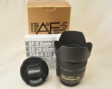 #997 Excellent! Nikon AF-S Nikkor 24-85mm F3.5-4.5 G ED With Box,Hood From Japan