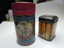 Nachlass: 2 alte wunderschöne Blechdosen für die Puppenküche   um 1900
