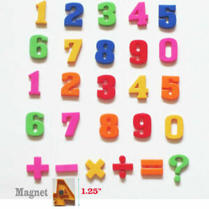 26 PCS COLORFUL NUMBER 0-9 FRIDGE BABY MAGNET EARLY LEARNING EDUCATIONAL TOYS