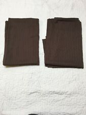 curtains brown chocolate sheer curtains size 52 X 63 2 curtain panels lot