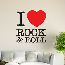 I Love Rock N Roll gráficos de pared mural sticker vinyl decal Arte Restaurante Pub De