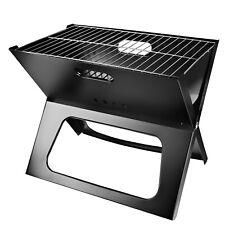 Foldable Compact Charcoal Barbecue BBQ Grill Stove Shish Kabob Camping Cooker