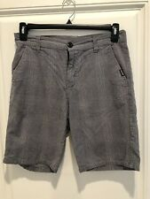 Zoo York Men's Grey And Blue Plaid Shorts Size 30