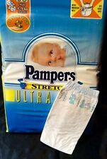 Vintage Pampers Stretch Diaper Sz Midi for Boys Greece Import *Rare*