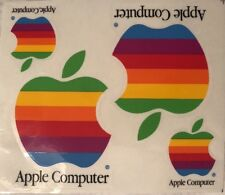 Vintage Genuine Rainbow Apple Computer Logo Decal Stickers - Set Of 4 From 1995