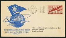 1945 FAM 24-2 AMERICAN AIR 1ST COMMERCIAL LAND PLANE FLIGHT OVERSEAS (ESP#1688)