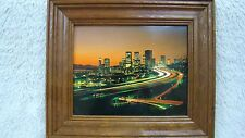 Beautiful Wood Framed Picture of City, Decorative
